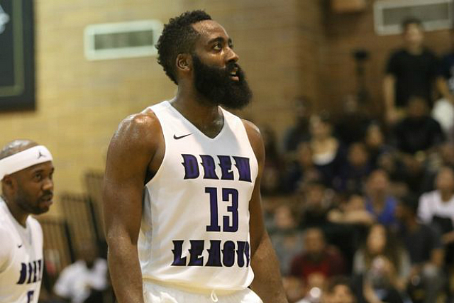 Drew League Wk. 7: James Harden Scores 26