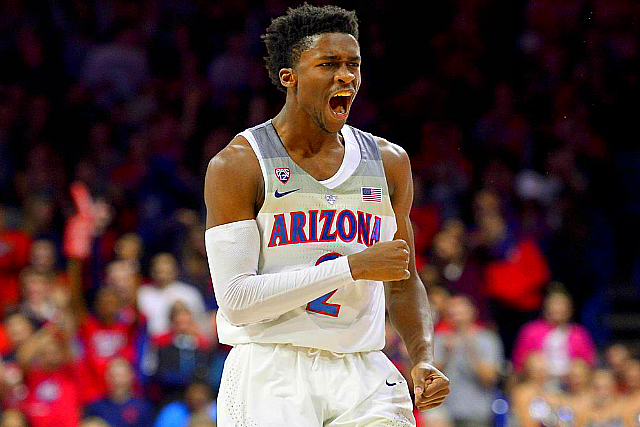 2017 NBA Draft, 6-5 guard, Allonzo Trier, Alpharetta GA, Arizona commit Kobi Simmons, Arizona Frosh Kobi Simmons Declares For NBA Draft, averaged 8.7 points and 2 assists for Arizona, but on Feb. 8 lost his starting spot to Allonzo Trier, declares for the 2017 NBA Draft, Draftexpress.com predicts that Simmons will be the No. 51 pick in the 2017 Draft, Kobi Simmons, Malik Beasley, No. 20 ranked player in the 2016 high school class, Sean Miller, Simmons' minutes continued to dwindle the rest of the season, St. Francis H.S., started 19 games for the Wildcats this year, ultra-athletic, Grizz Sign Undrafted Arizona Frosh Kobi Simmons, Undrafted Arizona freshman, Kobi Simmons has signed with the Memphis Grizzlies as a free agent, Simmons was not selected in Thursday's NBA Draft, He will also play on the Grizzlies summer league team, now have a chance to compete for a Grizzlies roster position, Memphis Grizzlies