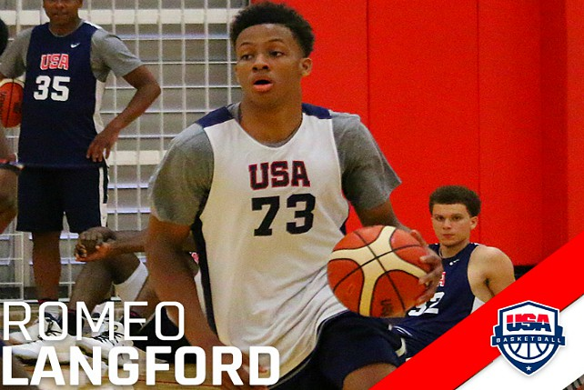 18 Finalists Named For USA U19 Mens Team