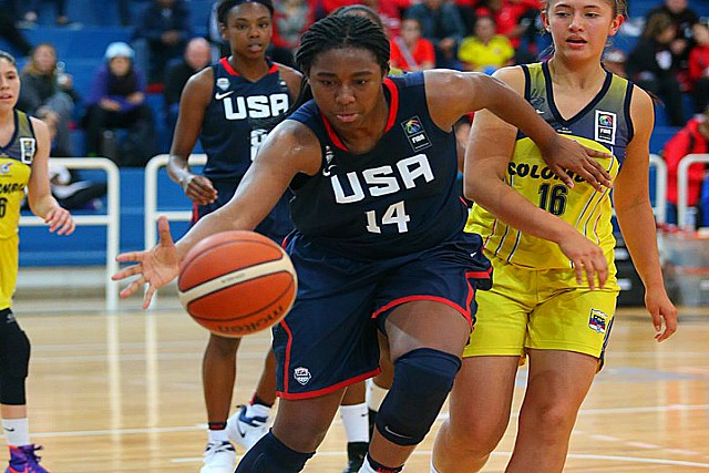 USA U16 Women Rout Colombia 91-33 In FIBA Opener