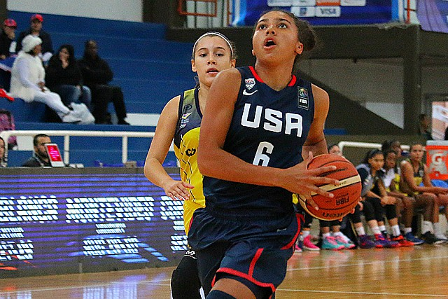 USA U16 Women Win Gold At FIBA Americas